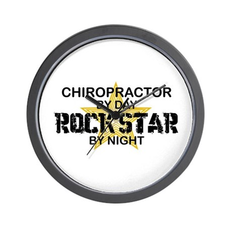 Chiropractor Rock Star Wall Clock