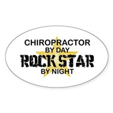 Chiropractor Rock Star Oval Decal