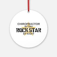 Chiropractor Rock Star Ornament (Round)