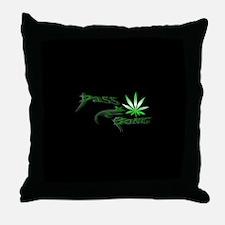 Pass The Bong Throw Pillow
