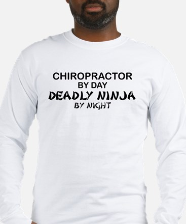 Chiropractor Deadly Ninja Long Sleeve T-Shirt
