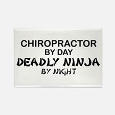 Chiropractor Deadly Ninja Rectangle Magnet