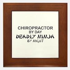 Chiropractor Deadly Ninja Framed Tile