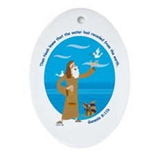 Noah and the Dove Oval Ornament