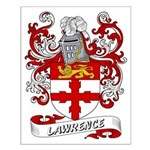 Lawrence Coat of Arms Small Poster