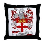 Lawrence Coat of Arms Throw Pillow