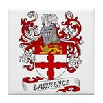 Lawrence Coat of Arms Tile Coaster
