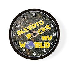Alberto Rocks My World (Gold) Wall Clock