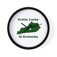 Gettin' Lucky In Kentucky Wall Clock