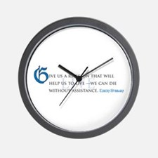 Help Us to Live Wall Clock