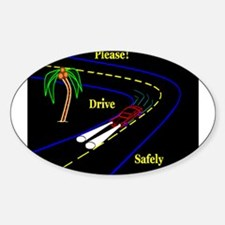 PLEASE! DRVE SAFELY Oval Decal