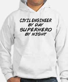 Civil Engineer Superhero Jumper Hoody
