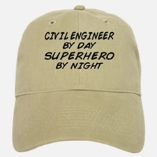 Civil Engineer Superhero Baseball Baseball Cap