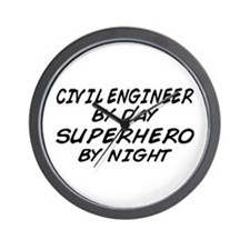 Civil Engineer Superhero Wall Clock