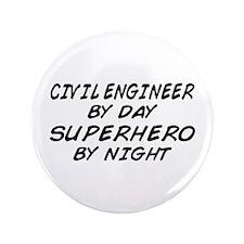 "Civil Engineer Superhero 3.5"" Button"