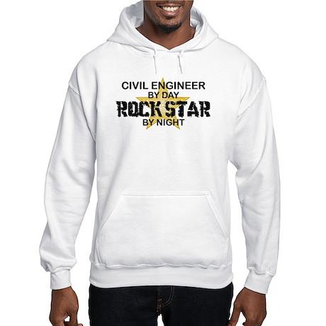 Civil Engineer Rock Star Hooded Sweatshirt