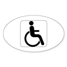 Handicapped Oval Decal