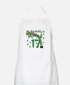 St. Patrick's Day March 17th Birthday Apron