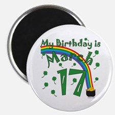 St. Patrick's Day March 17th Birthday Magnet