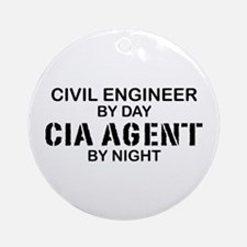 Civil Engineer CIA Agent Ornament (Round)