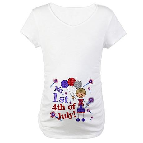 1st July 4th Boy Maternity T-Shirt