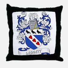Leggett Coat of Arms Throw Pillow