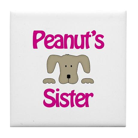 Peanut's Sister Tile Coaster