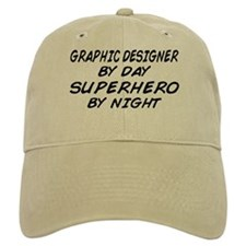 Graphic Designer Superhero Baseball Cap