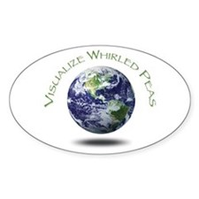 Visualize Whirled Peas Oval Bumper Stickers