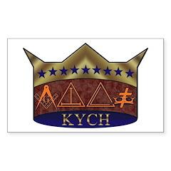 Masonic K.Y.C.H. Rectangle Decal