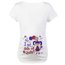 1st July 4th Girl Blue Shirt