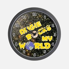 Angie Rocks My World (Gold) Wall Clock