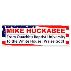 Baptist University Huckabee Bumper Bumper Sticker