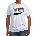 I Love Summer Fitted T-Shirt