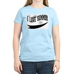 I Love Summer Women's Pink T-Shirt