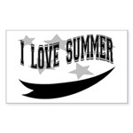 I Love summer Rectangle Sticker