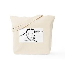 Hand Drawn Chinese Girl Tote Bag