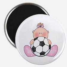 Lil Soccer Baby Girl Magnet