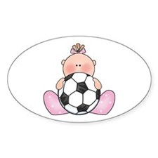 Lil Soccer Baby Girl Oval Decal