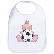 Lil Soccer Baby Girl Bib