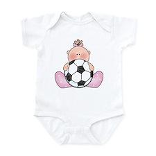 Lil Soccer Baby Girl Infant Bodysuit