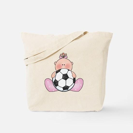 Lil Soccer Baby Girl Tote Bag
