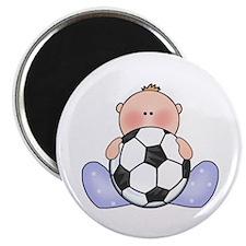 Lil Soccer Baby Boy Magnet