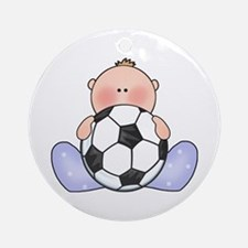 Lil Soccer Baby Boy Ornament (Round)