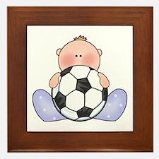 Lil Soccer Baby Boy Framed Tile