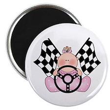Lil Race Winner Baby Girl Magnet
