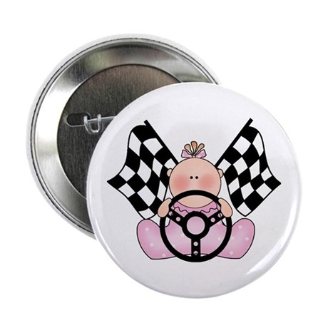 "Lil Race Winner Baby Girl 2.25"" Button"