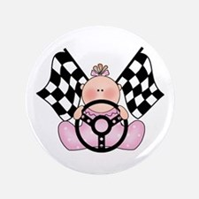 "Lil Race Winner Baby Girl 3.5"" Button"