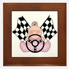 Lil Race Winner Baby Girl Framed Tile