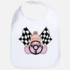 Lil Race Winner Baby Girl Bib